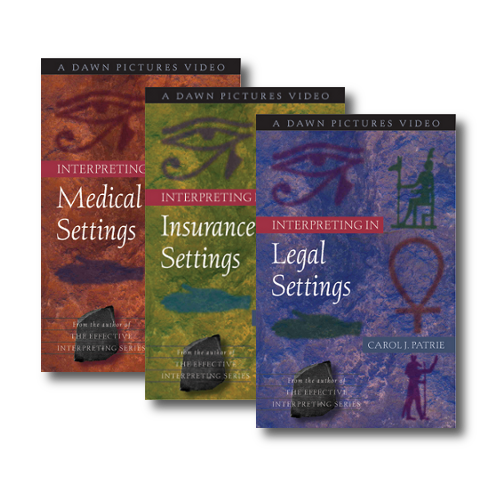 Interpreting in Medical, Legal and Insurance Settings